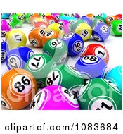Clipart 3d Colorful Bingo Balls Royalty Free CGI Illustration