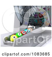 Clipart 3d Bingo Balls Lined Up Under A Dispenser Royalty Free CGI Illustration by KJ Pargeter