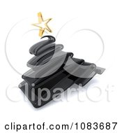 Clipart 3d Black Scribble Glass Christmas Tree Royalty Free CGI Illustration by KJ Pargeter