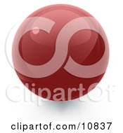 Clipart Illustration Of A Red 3D Sphere Internet Button by Leo Blanchette