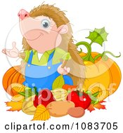Clipart Gardener Hedgehog With His Harvest Royalty Free Vector Illustration by Pushkin