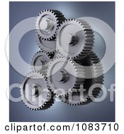 Clipart 3d Accuracy Mechanical Gear Cog Wheels 2 Royalty Free CGI Illustration