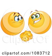 Clipart Emoticon Smileys Shaking Hands Royalty Free Vector Illustration by yayayoyo #COLLC1083712-0157