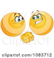 Poster, Art Print Of Emoticon Smileys Shaking Hands