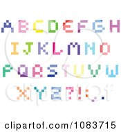 Colorful Capital Pixel Letters