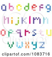 Clipart Colorful Lowercase Pixel Letters Royalty Free Vector Illustration