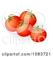 Clipart 3d Plump Red Organic Tomatoes Royalty Free Vector Illustration
