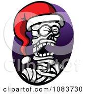 Mummy Wearing A Christmas Santa Hat