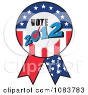 Clipart Vote 2012 Presidential Election USA Flag Ribbon Royalty Free Vector Illustration