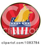 Clipart Presidential Election Ballot Box And Usa Map Royalty Free Vector Illustration