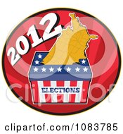 Clipart 2012 Presidential Election Ballot Box And Usa Map Royalty Free Vector Illustration
