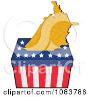 Clipart American Map In An Election Ballot Box Royalty Free Vector Illustration