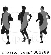 Male Runner Silhouettes