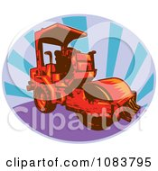 Red Road Roller Machine And Rays