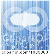 Clipart Blue Stripe And Swirl Background With Copyspace Royalty Free Vector Illustration