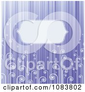 Clipart Violet Stripe And Swirl Background With Copyspace Royalty Free Vector Illustration