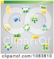 Clipart Ecology And Nature Icon Logos Royalty Free Vector Illustration by elena