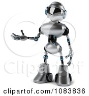 Clipart 3d Presenting Chrome Robot Royalty Free CGI Illustration by Julos