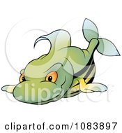 Green Fish With Black Stripes