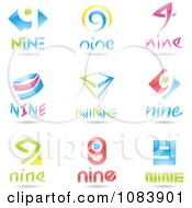 Clipart 3d Number Nine Logos Royalty Free Vector Illustration