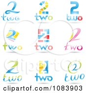 Clipart 3d Number Two Logos Royalty Free Vector Illustration