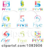 Clipart 3d Number Five Logos Royalty Free Vector Illustration