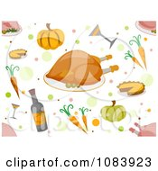 Clipart Seamless Thanksgiving Food Background Royalty Free Vector Illustration by BNP Design Studio