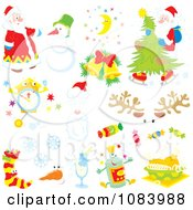 Clipart Christmas Design Elements Royalty Free Vector Illustration