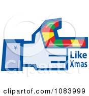 Clipart Hand With A Candy Cane And Like Xmas Text Royalty Free Vector Illustration by Dennis Holmes Designs