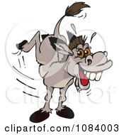 Clipart Kicking Donkey Royalty Free Vector Illustration