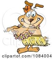Poster, Art Print Of Hula Dancer Sparkey Dog