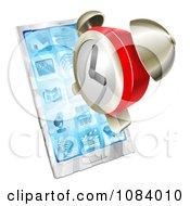 3d Alarm Clock Over A Smart Phone