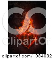 Clipart 3d Flaming Ardent Heart Royalty Free CGI Illustration by chrisroll