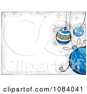 Clipart White And Gray Christmas Background With Cartoon Baubles Royalty Free Vector Illustration by BNP Design Studio