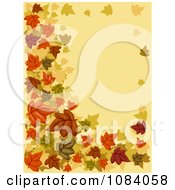 Clipart Autumn Background With Leaves Royalty Free Vector Illustration