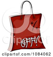 Clipart Red Percent Off Shopping Bag Royalty Free Vector Illustration