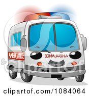 Clipart Fast Ambulance Character Royalty Free Vector Illustration
