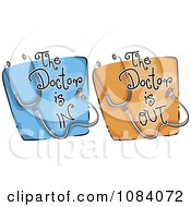 Clipart Your Doctor Is In And Out Website Icons Royalty Free Vector Illustration