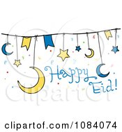 Clipart Happy Eid Banner Strings Royalty Free Vector Illustration