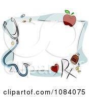 Clipart Medical Frame Royalty Free Vector Illustration