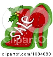 Clipart Christmas Sale Shoe Royalty Free Vector Illustration