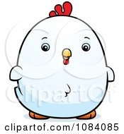 Clipart Chubby Rooster Chick Royalty Free Vector Illustration