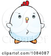 Clipart Chubby Rooster Chick Flying Royalty Free Vector Illustration