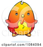 Clipart Chubby Phoenix Chick Flying Royalty Free Vector Illustration