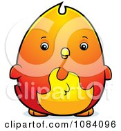 Clipart Chubby Phoenix Chick Royalty Free Vector Illustration