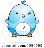 Clipart Chubby Bluebird Chick Flying Royalty Free Vector Illustration