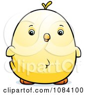 Clipart Chubby Chicken Chick Royalty Free Vector Illustration