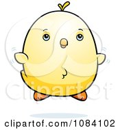 Clipart Chubby Chicken Chick Flying Royalty Free Vector Illustration