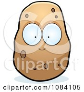 Clipart Big Eyed Potato Character Royalty Free Vector Illustration by Cory Thoman