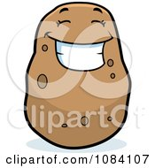 Clipart Smiling Potato Character Royalty Free Vector Illustration by Cory Thoman